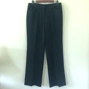 Anne Klein Black Straight Leg Dress Pants | 10
